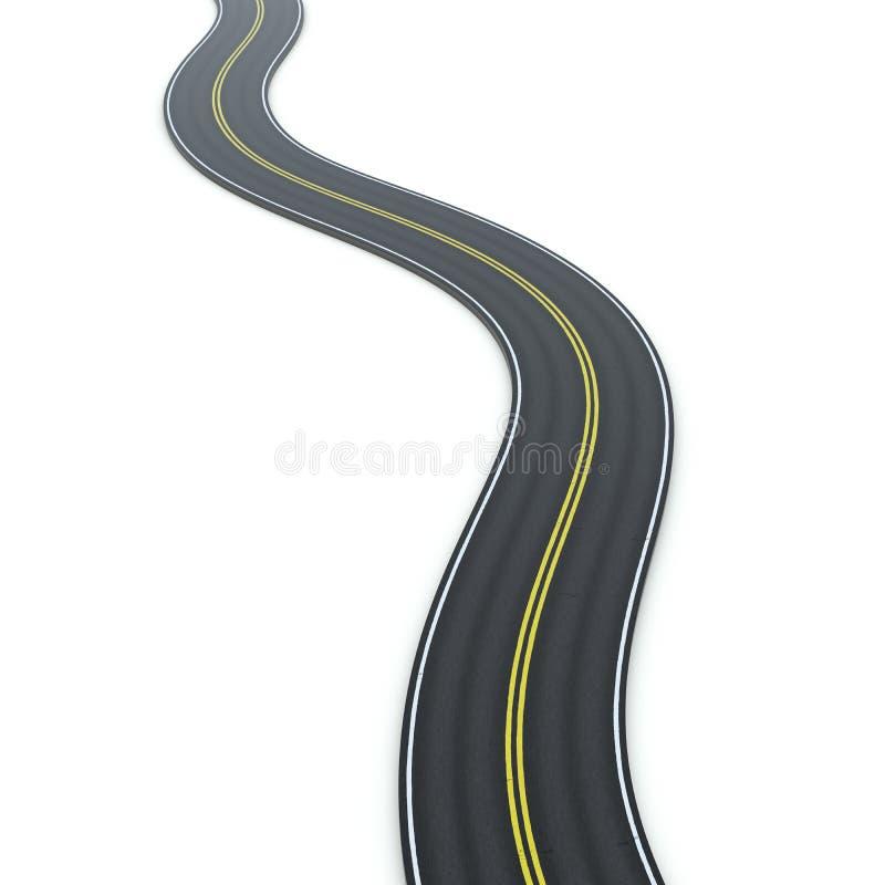 График значка извилистой дороги бесплатная иллюстрация