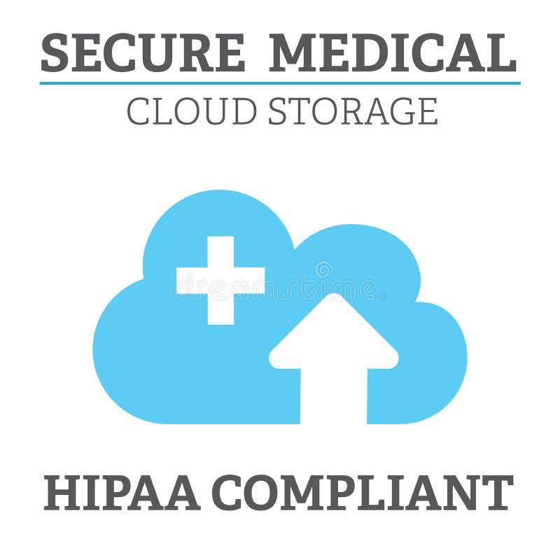 График значка соответствия HIPAA иллюстрация вектора