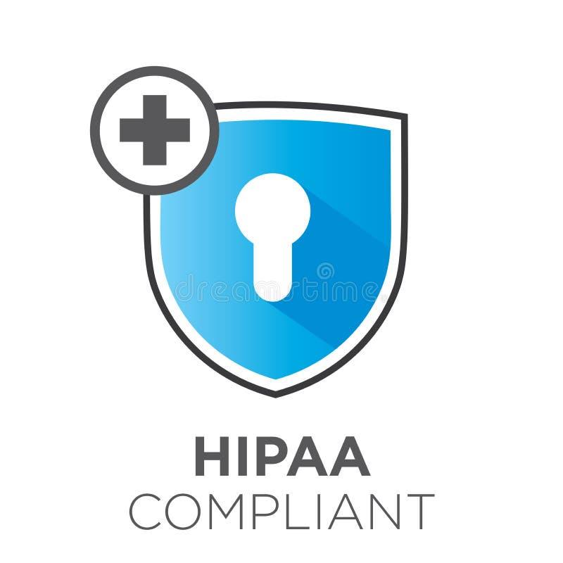 График значка соответствия HIPAA бесплатная иллюстрация
