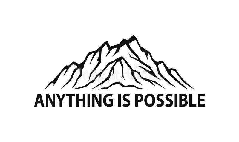 График иллюстрации вектора силуэта горной цепи изолированный логотипом бесплатная иллюстрация