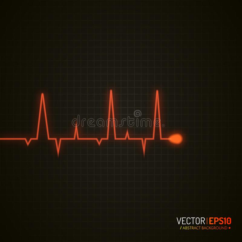 График ИМПа ульс Медицинская предпосылка с cardiogram сердца Предпосылка вектора иллюстрация штока