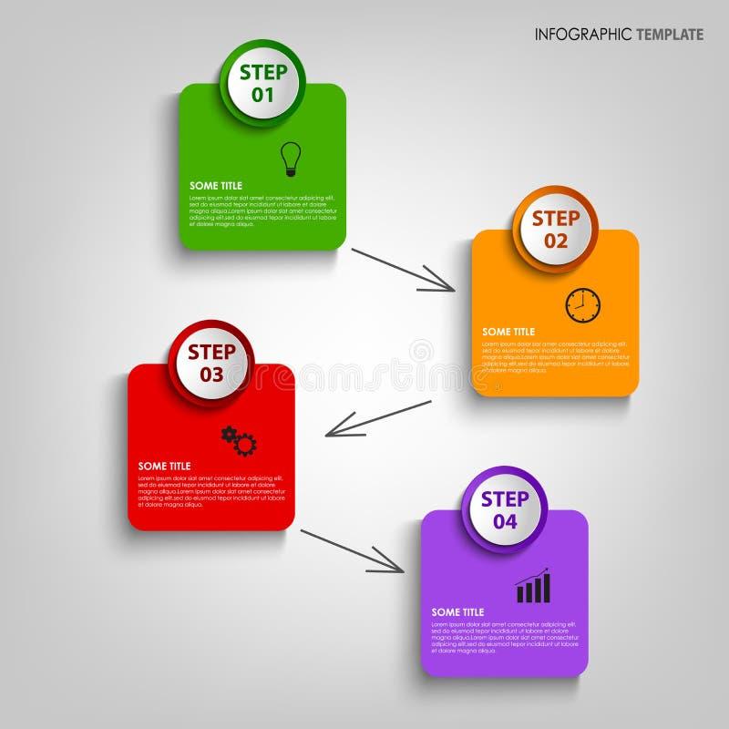 График информации с красочным дизайном обозначает шаблон иллюстрация вектора