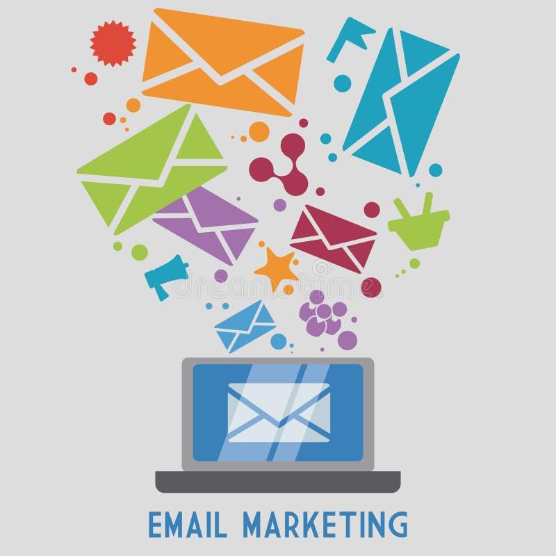 График иллюстрации eps10 вектора дизайна значка почты бесплатная иллюстрация