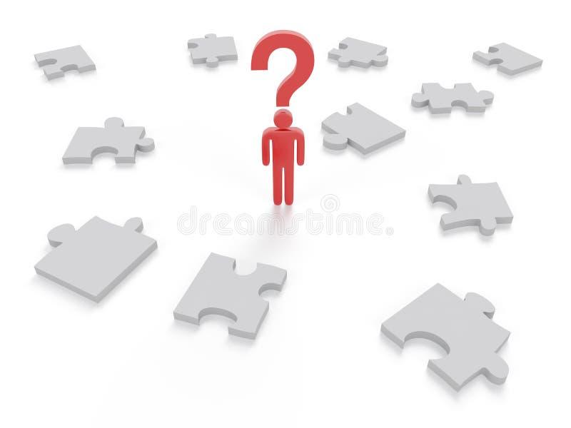 График концепции головоломки вопросительного знака бесплатная иллюстрация