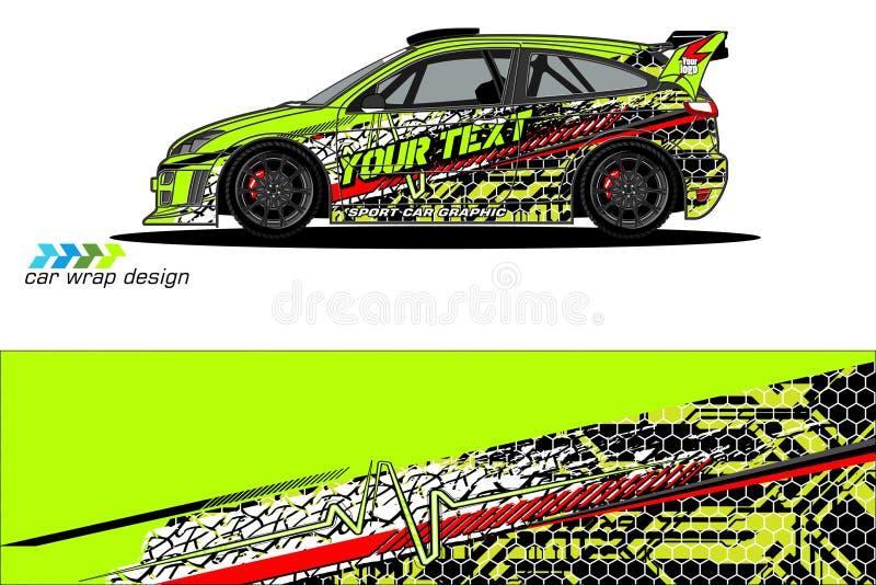 График ливреи корабля абстрактный дизайн предпосылки grunge для клеймить обруча и автомобиля винила корабля иллюстрация вектора