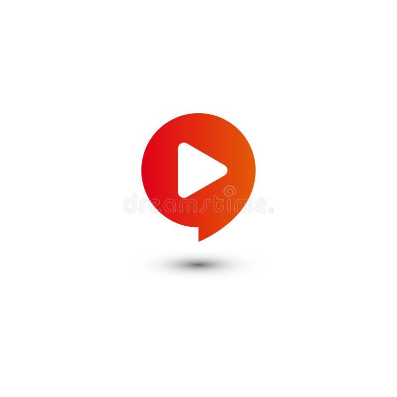 График логотипа мультимедиа кнопки игры иллюстрация вектора