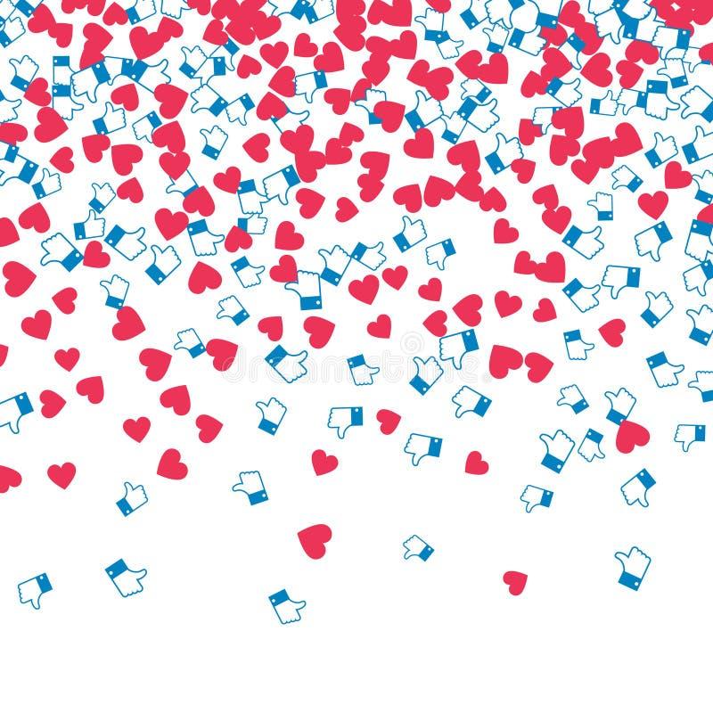 График монетизации блога Сердца и подобия иллюстрация вектора