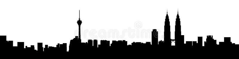 График панорамы Куалаа-Лумпур бесплатная иллюстрация