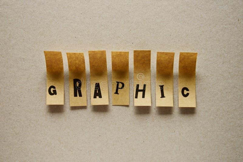 График - слово в липких письмах стоковое фото