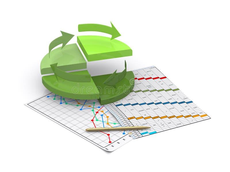 график финансов диаграммы диаграммы дела штанги иллюстрация штока