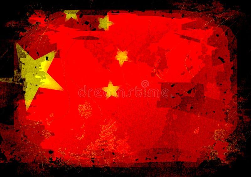 График флага Китая иллюстрация штока