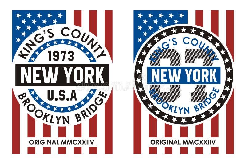 График футболки Нью-Йорка бесплатная иллюстрация