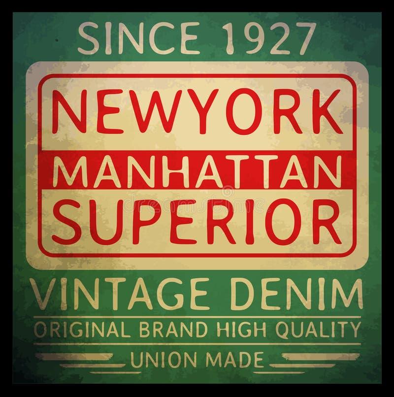 График футболки оформления Нью-Йорка векторы иллюстрация штока