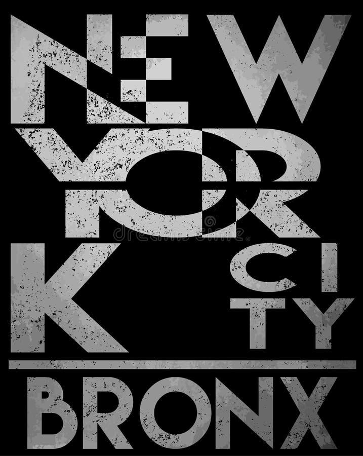 График футболки оформления Нью-Йорка векторы иллюстрация вектора