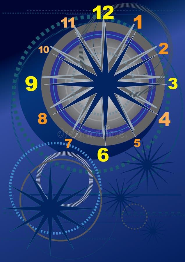 график часов иллюстрация вектора