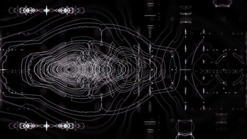 График чужеземца UI иллюстрация вектора