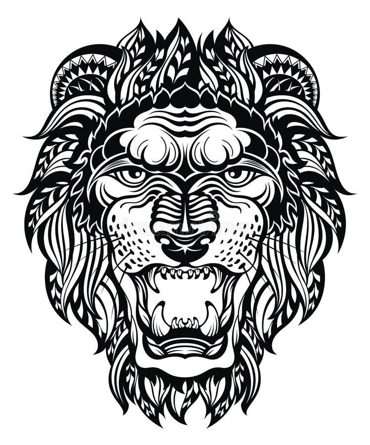 График льва головной leo иллюстрация штока