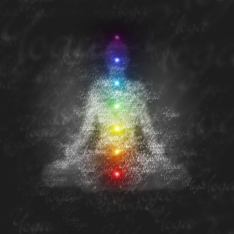 График charka йоги раздумья стоковое изображение