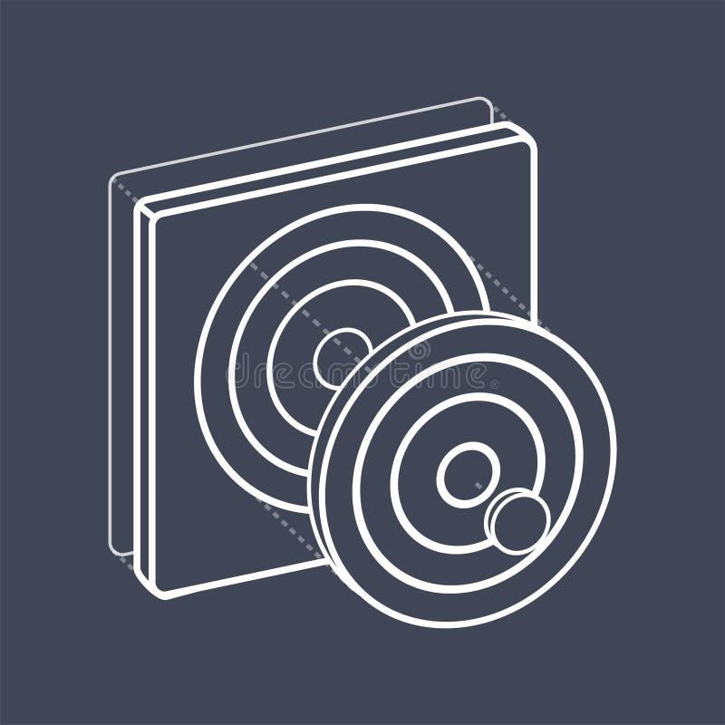 График dartboard цели цифровой творческий иллюстрация вектора