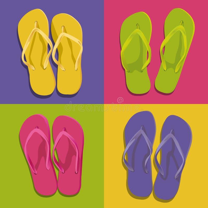 Графическая предпосылка с 4 парами темповых сальто сальто других цветов иллюстрация штока