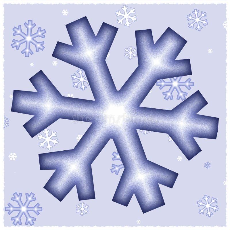 графические снежинки иллюстрация штока