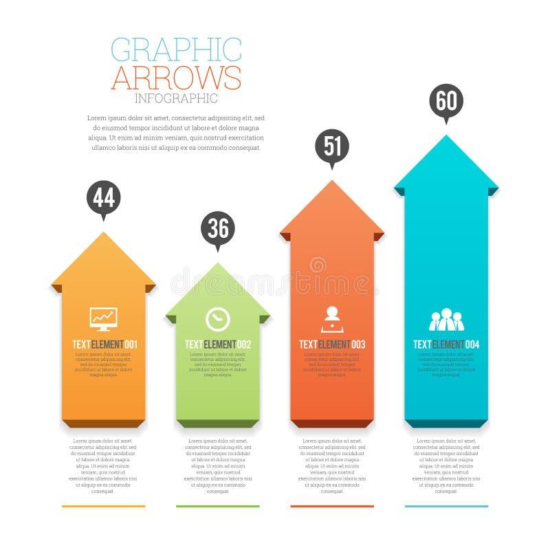Графические стрелки Infographic иллюстрация вектора