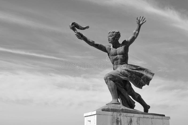 Графический взгляд статуи свободы, Будапешта, Венгрии, Европы стоковое изображение