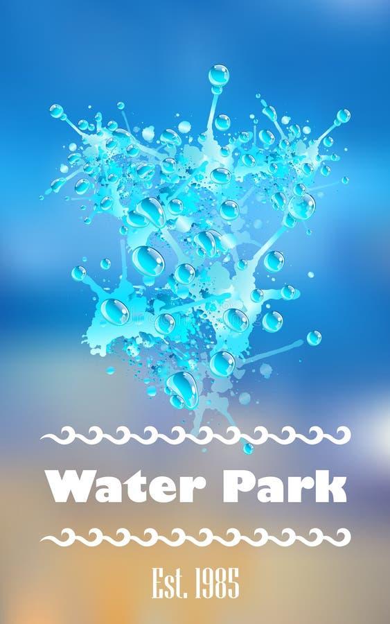 Графический выплеск воды иллюстрация штока