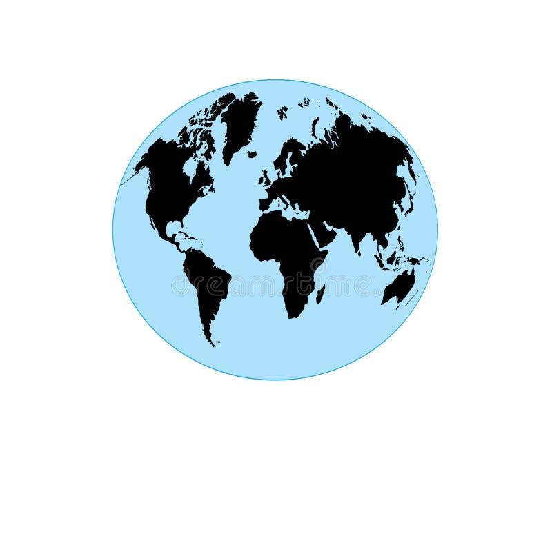 Графический глобус с картой земли иллюстрация вектора