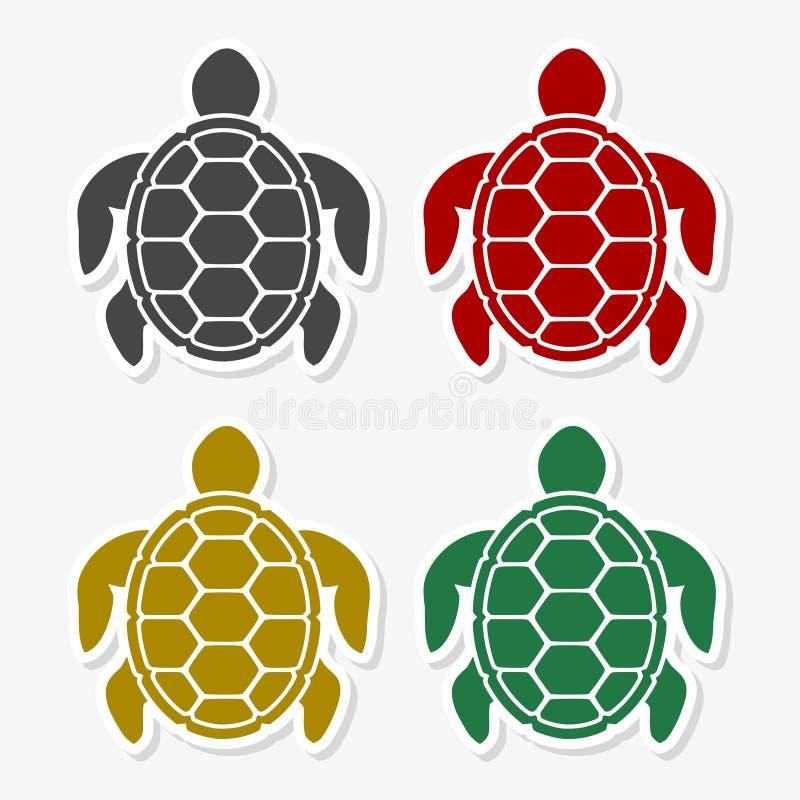 Графический дизайн значка черепахи плоский - иллюстрация иллюстрация вектора