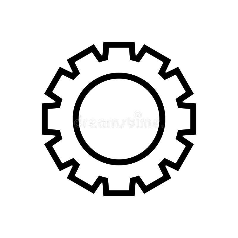Графический дизайн иллюстрации вектора значка части машинного оборудования шестерни иллюстрация вектора