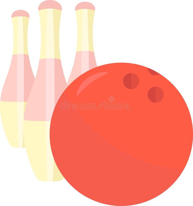 Графический дизайн искусства штырей боулинга и зажима вектора шарика иллюстрация штока