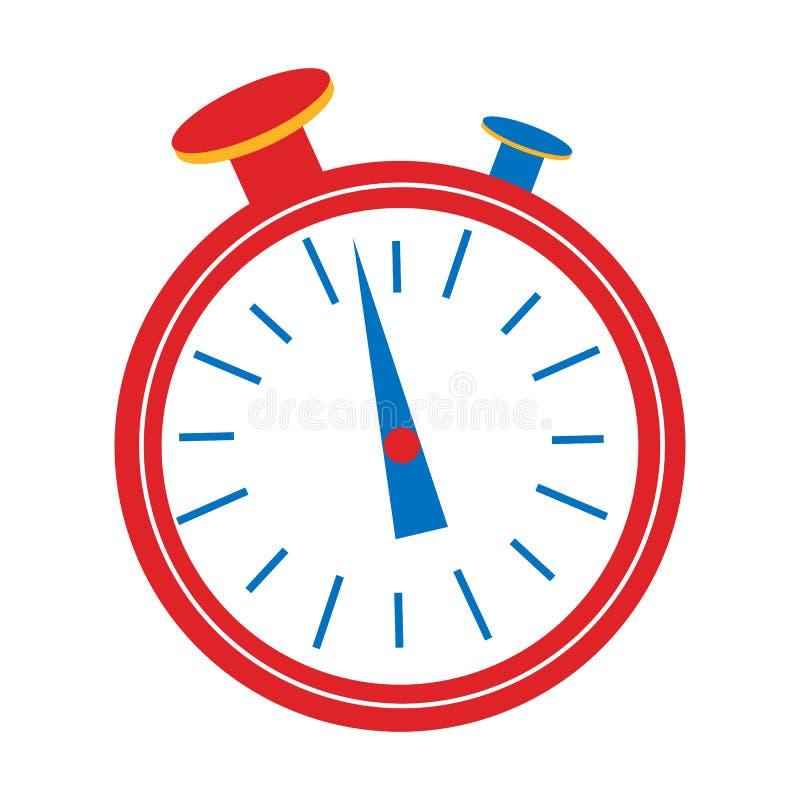 Графический дизайн таймера часов Начните, закончите Контроль времени Секундомер иллюстрация штока
