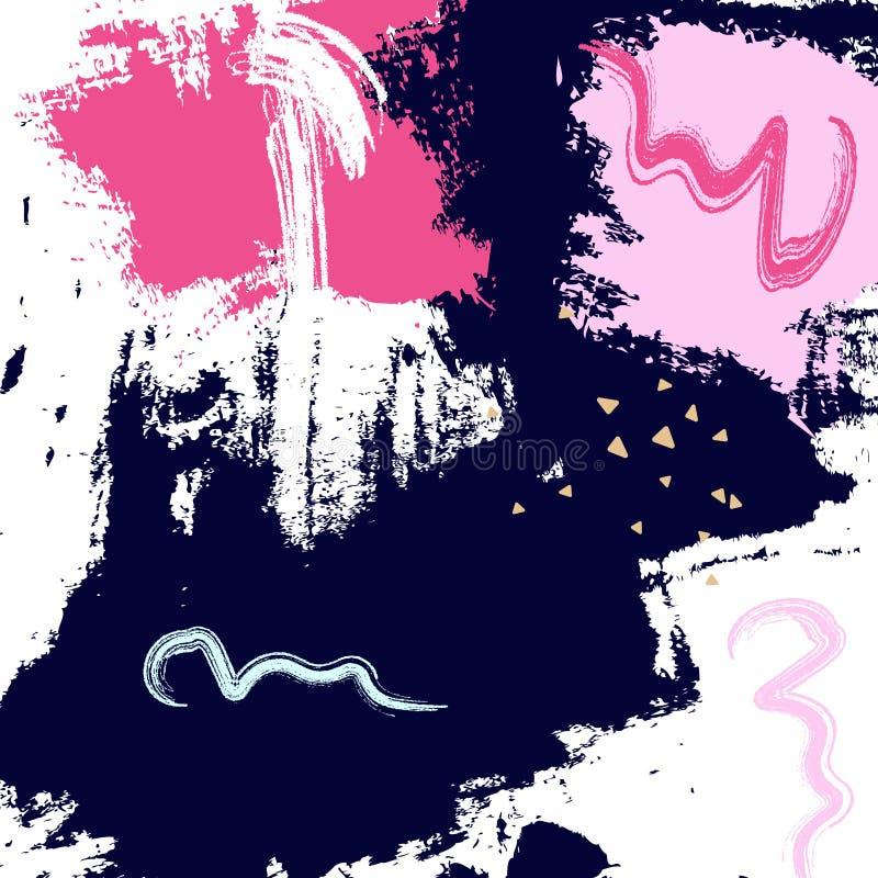 Графический дизайн grunge пинка военно-морского флота Картина образца краски абстрактная Элементы Grunge динамические horisontal  бесплатная иллюстрация