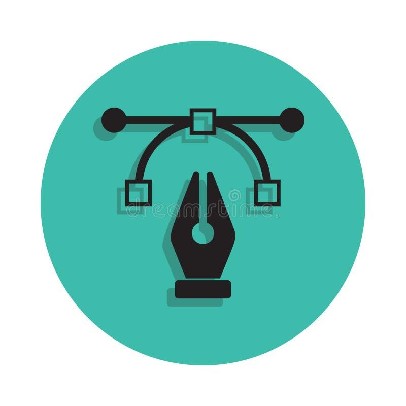 графический значок знака ручки Элемент дома печатания для передвижных концепции и значка apps сети Тонкая линия значок с тенью в  иллюстрация вектора
