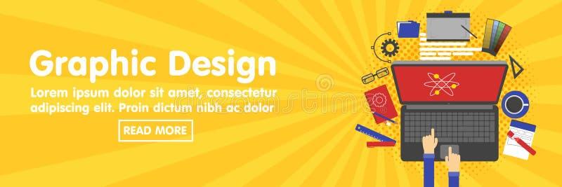 Графический дизайн, дизайнерские инструменты и шаблон знамени программного обеспечения бесплатная иллюстрация