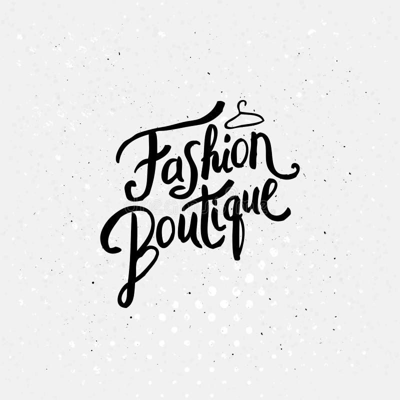 Графический дизайн концепции магазина модной одежды иллюстрация вектора