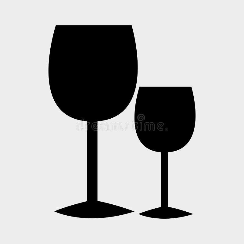Графический дизайн питья вина с значками иллюстрация штока
