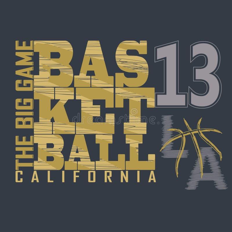 Графический дизайн футболки баскетбола иллюстрация штока