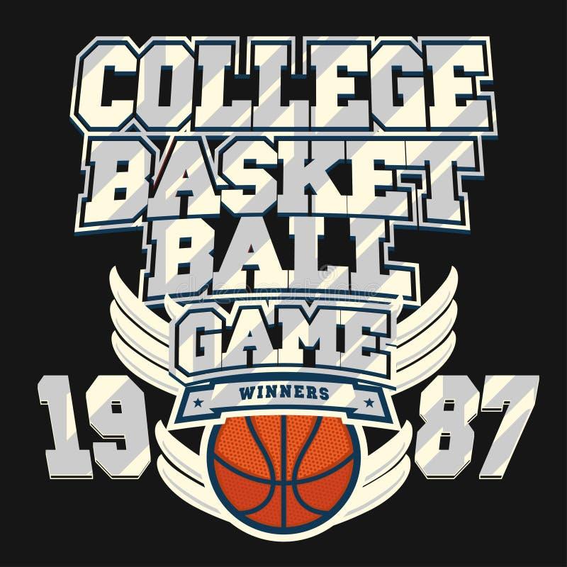 Графический дизайн футболки баскетбола бесплатная иллюстрация