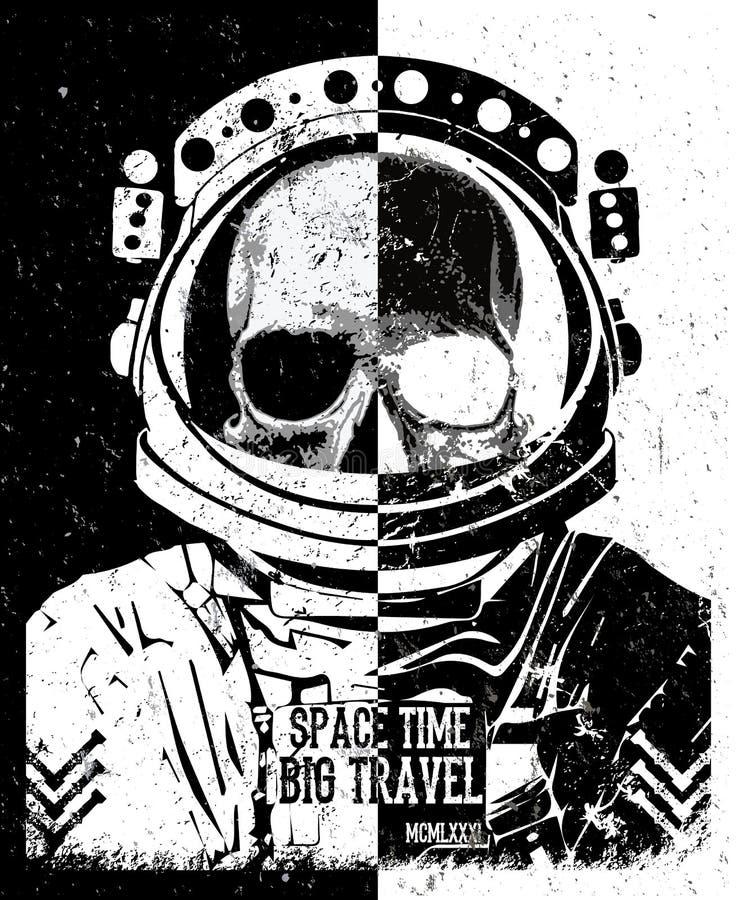 Графический дизайн футболки черепа иллюстрация штока