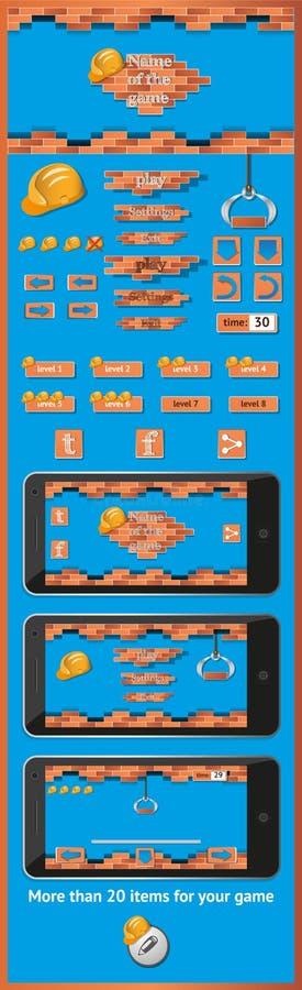 Графический интерфейс пользователя на игры 5 бесплатная иллюстрация