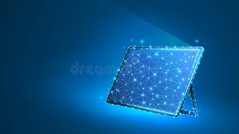 Графический планшет, ноутбук, тетрадь составленная полигонов Приборы, концепция сенсорной панели Конспект, цифровой, wireframe, н бесплатная иллюстрация