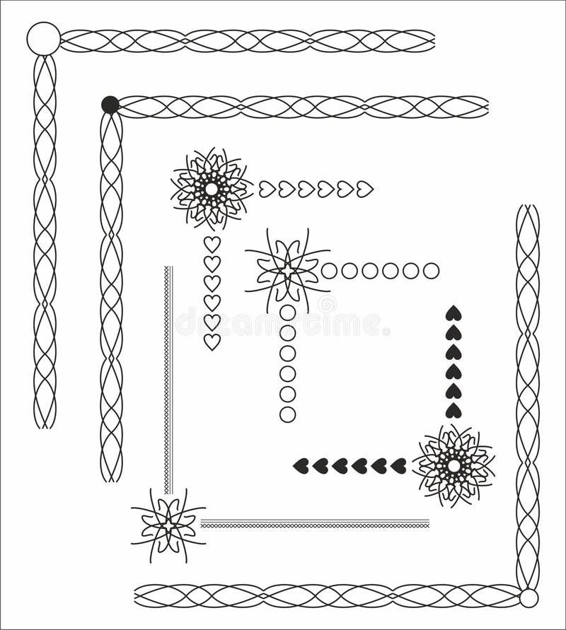 Угол с цветком иллюстрация вектора