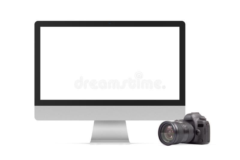 Графический элемент фотокамеры компьютера и DSLR стоковые фотографии rf