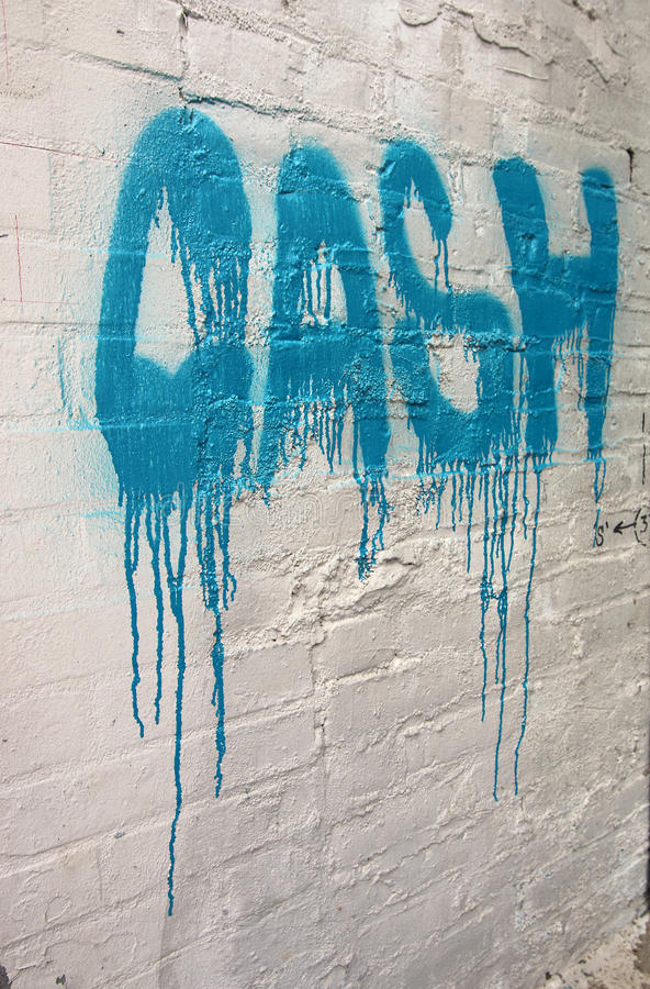 Граффити внутреннего северного Портленда, Орегона стоковая фотография rf
