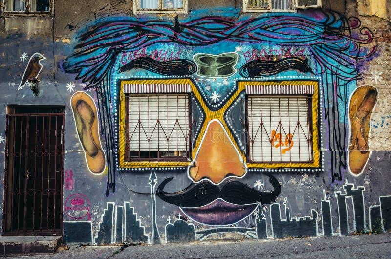 Граффити в Белграде стоковые фото