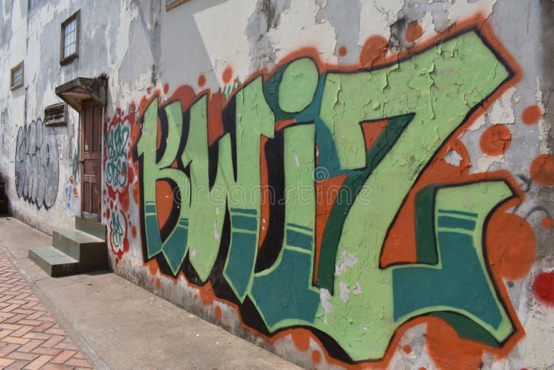 Граффити в Вьентьян стоковые изображения