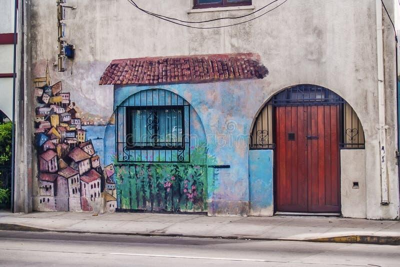 Граффити в доме стоковое изображение