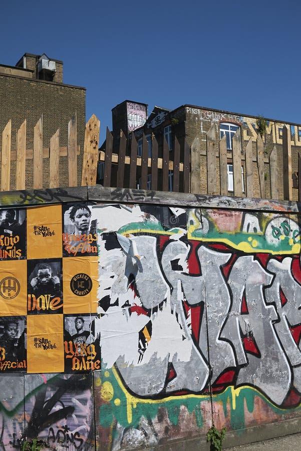Граффити в фитиле Hackney стоковые изображения